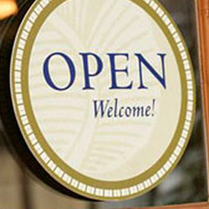Open sign for business